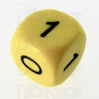 CLEARANCE D&G Opaque Yellow Numbered 0, 0, 0, 1, 1, 1 D6 Dice