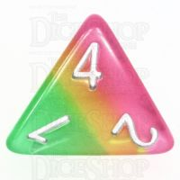 TDSO Layer Green Rose & Yellow Glitter D4 Dice