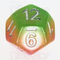 TDSO Layer Green Rose & Yellow Glitter D12 Dice