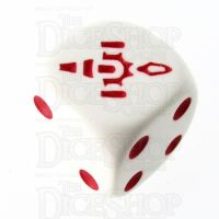 CLEARANCE Opaque White & Rose Firefly D6 Spot Dice OOP