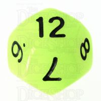 TDSO Glow in the Dark Gamma D12 Dice LIMITED EDITION