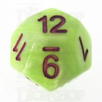 TDSO Marbleised Green Yellow & White D12 Dice