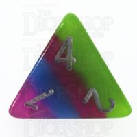 TDSO Strata Tropical with Silver D4 Dice LIMITED EDITION