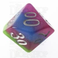 TDSO Strata Tropical with Silver Percentile Dice LIMITED EDITION