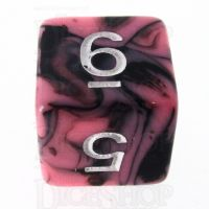 TDSO Duel Black & Pink D6 Dice
