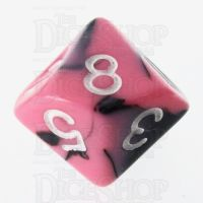 TDSO Duel Black & Pink D10 Dice