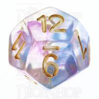 TDSO Pearl Swirl Blue & Purple D12 Dice