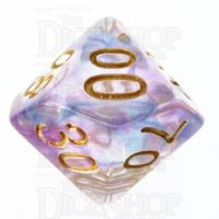 TDSO Pearl Swirl Blue & Purple Percentile Dice