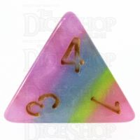 TDSO Layer Purple Blue Yellow & Pink D4 Dice