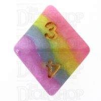 TDSO Layer Purple Blue Yellow & Pink D8 Dice