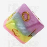TDSO Layer Purple Blue Yellow & Pink D10 Dice