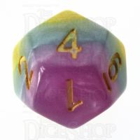 TDSO Layer Purple Blue Yellow & Pink D12 Dice