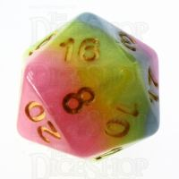 TDSO Layer Purple Blue Yellow & Pink D20 Dice