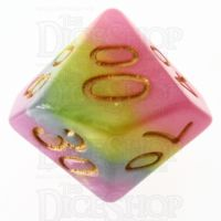 TDSO Layer Purple Blue Yellow & Pink Percentile Dice