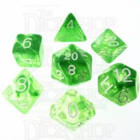 Role 4 Initiative Diffusion Slime Green & White 7 Dice Polyset