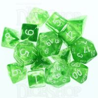 Role 4 Initiative Diffusion Slime Green & White 15 Dice Polyset