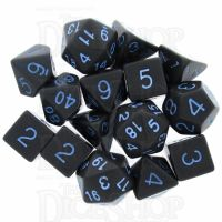Role 4 Initiative Opaque Grey & Blue 15 Dice Polyset