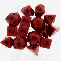 Role 4 Initiative Opaque Red & Black 15 Dice Polyset