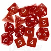 Role 4 Initiative Translucent Red & White 15 Dice Polyset