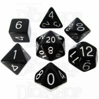 Role 4 Initiative Opaque Black & White 7 Dice Polyset