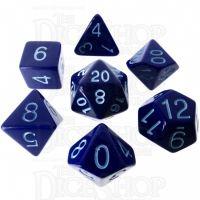 Role 4 Initiative Opaque Blue & Blue 7 Dice Polyset