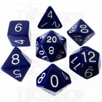 Role 4 Initiative Opaque Blue & White 7 Dice Polyset