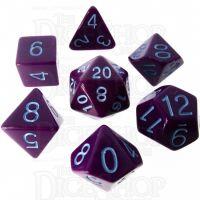 Role 4 Initiative Opaque Purple & Blue 7 Dice Polyset