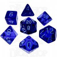 Role 4 Initiative Translucent Blue & Blue 7 Dice Polyset