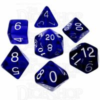 Role 4 Initiative Translucent Blue & White 7 Dice Polyset