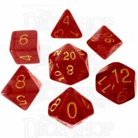 Role 4 Initiative Translucent Red & Gold 7 Dice Polyset