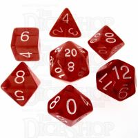Role 4 Initiative Translucent Red & White 7 Dice Polyset