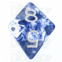 Role 4 Initiative Diffusion Blue Ink & White D8 Dice