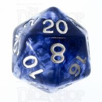 Role 4 Initiative Diffusion Blue Ink & White D20 Dice