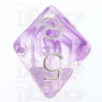 Role 4 Initiative Diffusion Amethyst & White D8 Dice