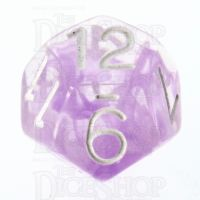 Role 4 Initiative Diffusion Amethyst & White D12 Dice