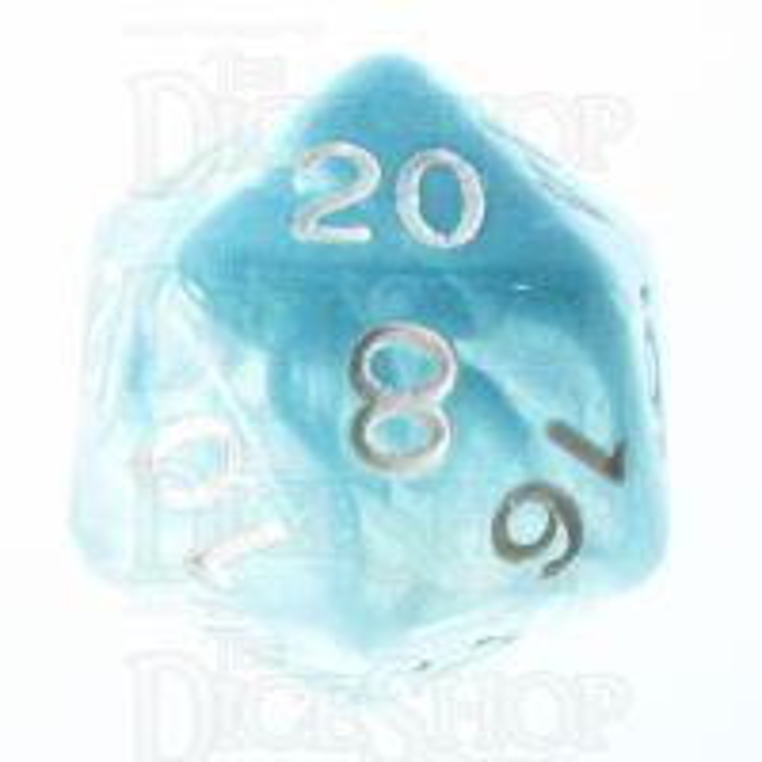 Role 4 Initiative Diffusion Glacier & White D20 Dice