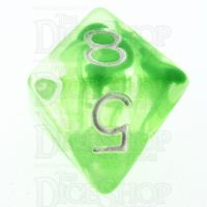 Role 4 Initiative Diffusion Slime Green & White D8 Dice