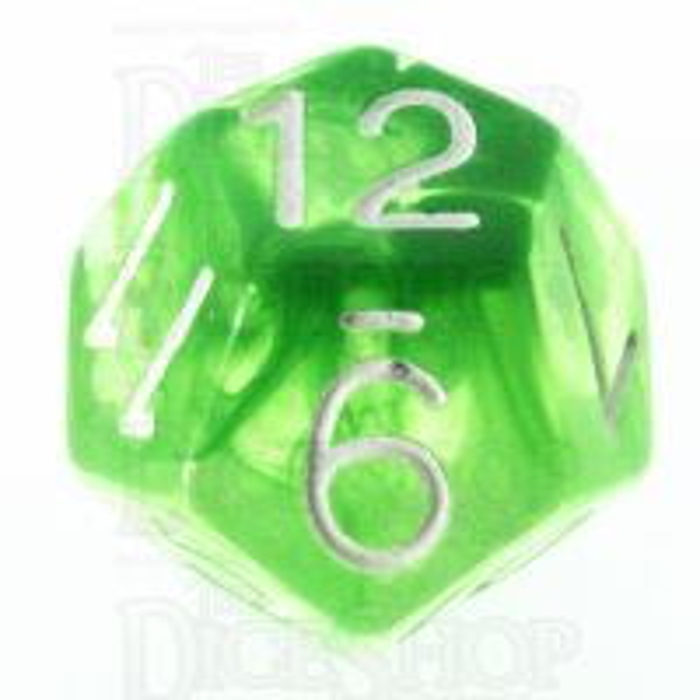 Role 4 Initiative Diffusion Slime Green & White D12 Dice