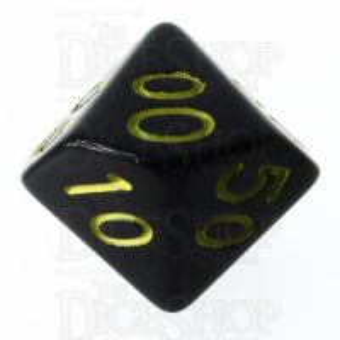 Role 4 Initiative Opaque Black & Gold Percentile Dice
