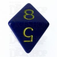 Role 4 Initiative Opaque Blue & Gold D8 Dice
