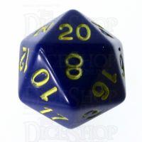 Role 4 Initiative Opaque Blue & Gold D20 Dice