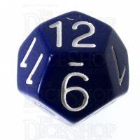 Role 4 Initiative Opaque Blue & White D12 Dice