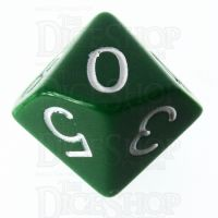 Role 4 Initiative Opaque Green & White D10 Dice