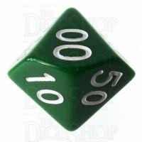 Role 4 Initiative Opaque Green & White Percentile Dice