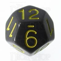 Role 4 Initiative Opaque Grey & Gold D12 Dice