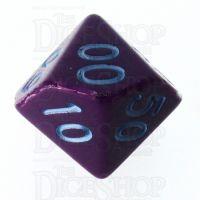 Role 4 Initiative Opaque Purple & Blue Percentile Dice