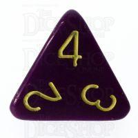 Role 4 Initiative Opaque Purple & Gold D4 Dice