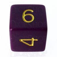 Role 4 Initiative Opaque Purple & Gold D6 Dice
