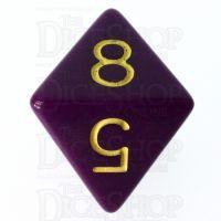Role 4 Initiative Opaque Purple & Gold D8 Dice