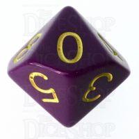 Role 4 Initiative Opaque Purple & Gold D10 Dice